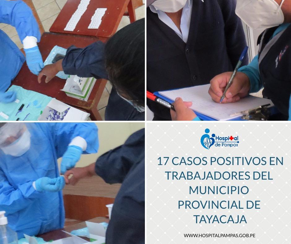 17 CASOS POSITIVOS EN TRABAJADORES DEL MUNICIPIO PROVINCIAL DE TAYACAJA