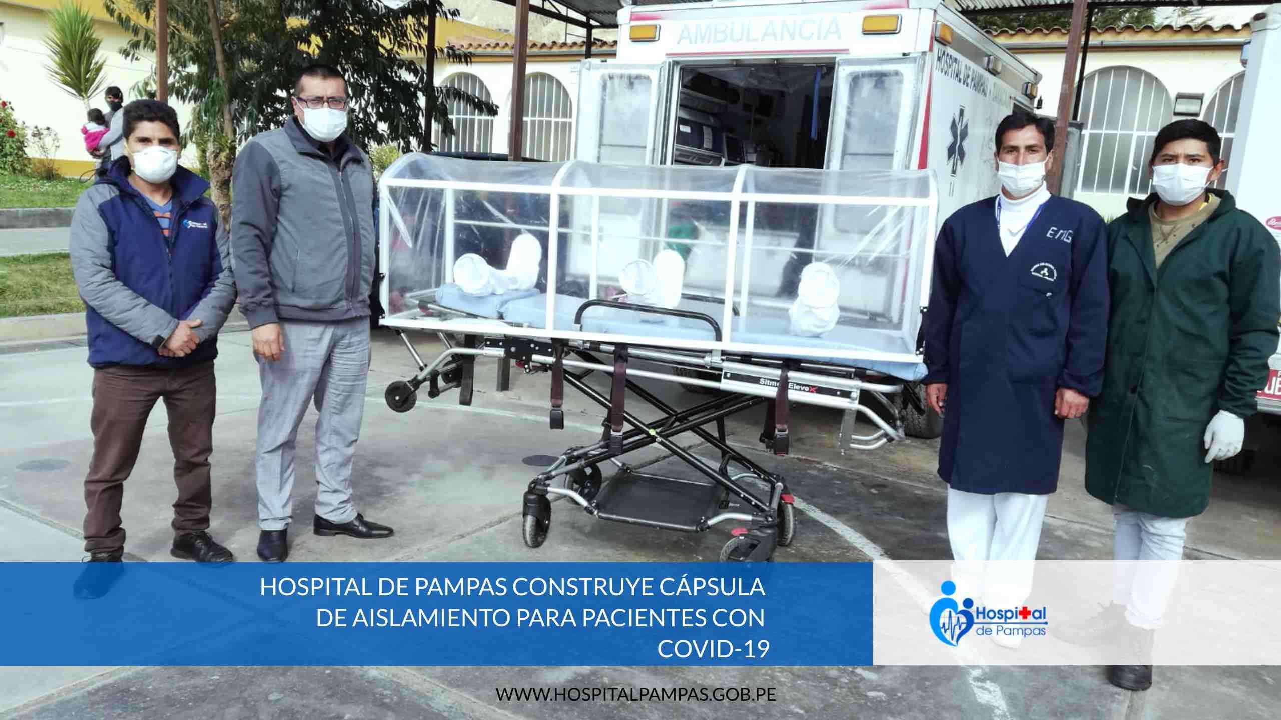 HOSPITAL DE PAMPAS CONSTRUYE CÁPSULA DE AISLAMIENTO PARA PACIENTES CON COVID-19